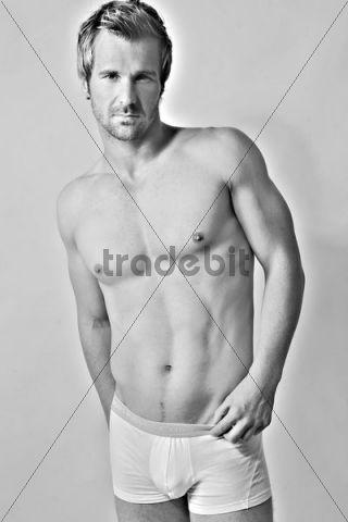 Athletic man wearing underwear