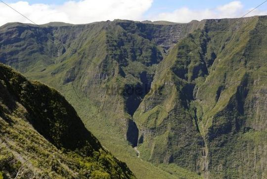 Mountain landscape, Réunion, Indian Ocean