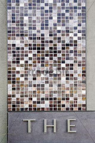 Tile mosaic, Downtown Dubai, Dubai, United Arab Emirates, Middle East, Asia