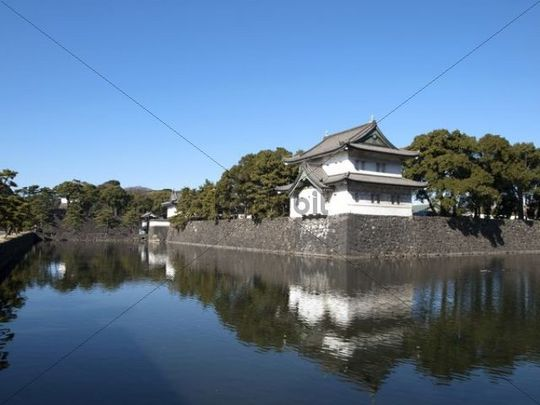 Edo Castle, also known as Chiyoda Castle, Chiyoda, Tokyo, Japan, Asia
