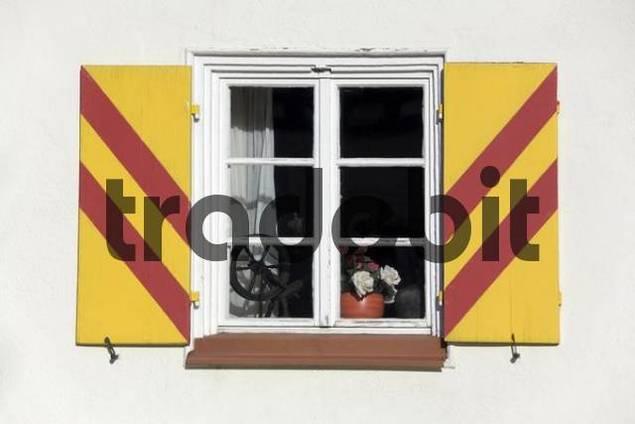 a typical window, Stetten, Swabian Mountains, Baden-Wuerttemberg, Germany