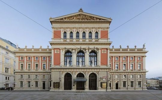 Front view, Musikverein concert hall, Vienna, Austria, Europe