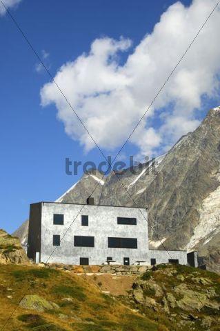 Berghaus Anenhuette mountain lodge, Loetschental valley, Valais, Switzerland, Europe