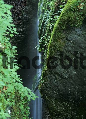 waterfall in the Mostnica gorge, Stara Fuzina, Triglav National Park, Slovenia