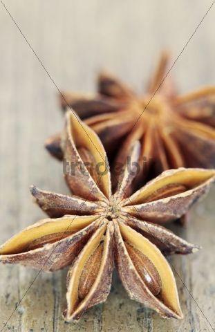 Star anise fruits (Illicium verum)