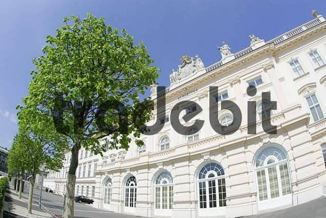 the building of the Albertina houses one of the largest collections of graphic art worldwide Vienna Austria