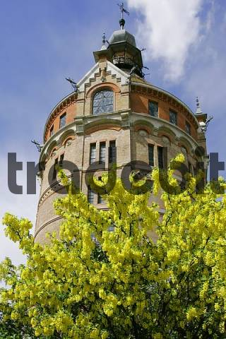 the water tower in the district of Favoriten built in 1899 in the architecture style industrial historism Vienna Austria