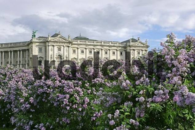hte building of the Hofburg viewed from the public garden Vienna Austria