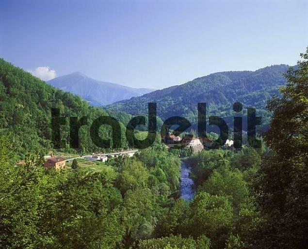 Trebbia valley, Loco, Liguria, Apennin, Italy
