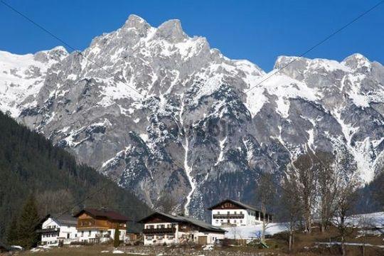 Mountain in the Austrian Alps in Werfen, Austria, Europe
