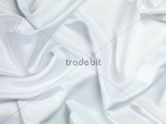 Shiny White Shiny White Silky Fabric Folds