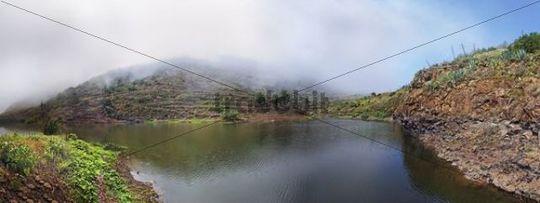 Embalse de Agulo reservoir, Agulo, La Gomera, Canary Islands, Spain, Europe