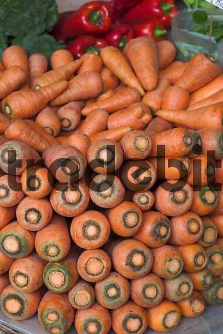 carrots in Mercado dos Lavradores in Funchal - Madeira