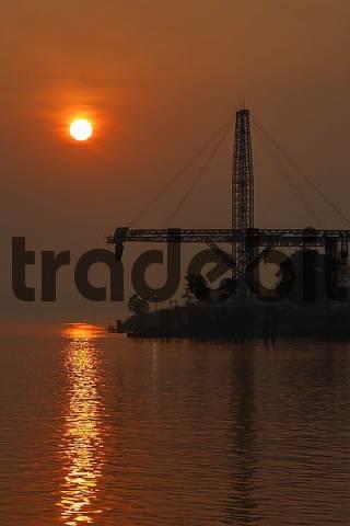 loading port for coal at river Sungai Mahakam, East-Kalimantan, Borneo, Indonesia