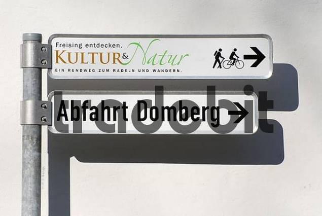 Signposts, Freising, Bavaria, Germany