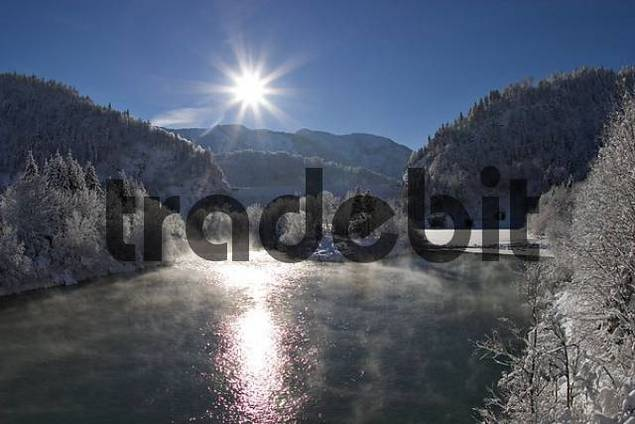 river Isar and barrage of Sylvensteinsee - Lenggries - Upper Bavaria