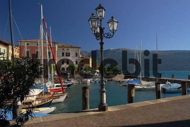 harbour in Gargnano, Lake Garda, Italy