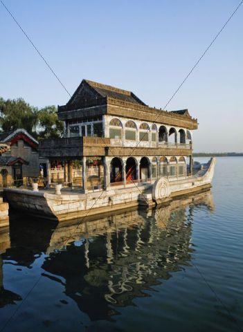 Marble Boat, Summer Palace, Beijing, China, Asia