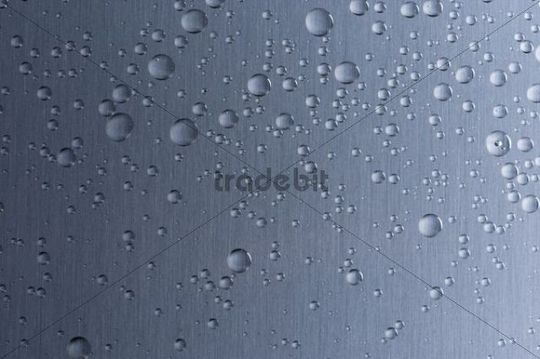 Drops on stainless steel