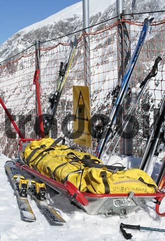 rescue sled, Berchtesgadener Land, Bavaria, Germany