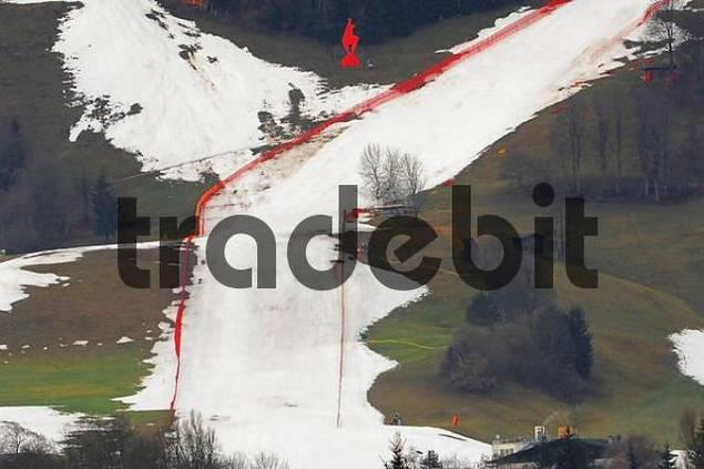 Winter 2007, the racing track Streif in Kitzbuehel, Tyrol, Austria