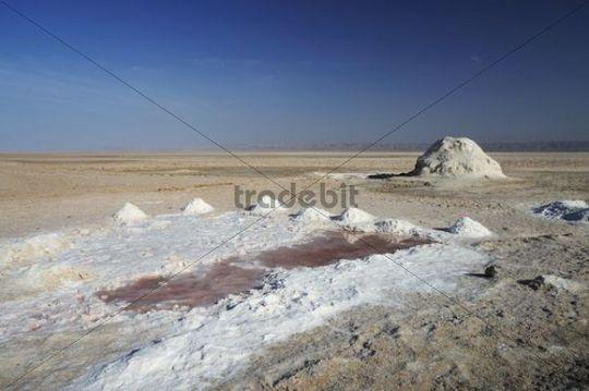 Salt lake Chott el Djerid, Southern Tunisia, Tunisia, Maghreb, North Africa, Africa