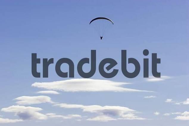 paragliding in the alps, Tirol, Austria