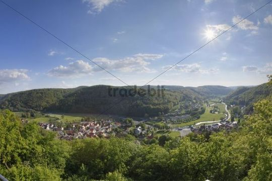Muggendorf, market town of Wiesenttal area, Franconian Switzerland, Upper Franconia, Franconia, Bavaria, Germany, Europe