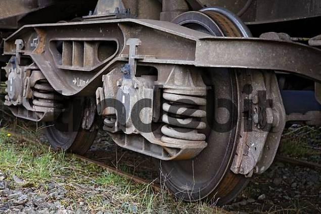 Detail of a train wheel