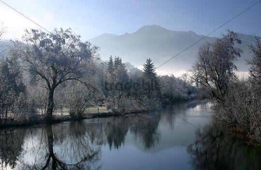 Loisach River, Kochel, Bavaria, Germany, Europe