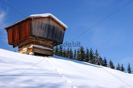 Old barn, open-air museum Glentleitn, Bavaria, Germany, Europe