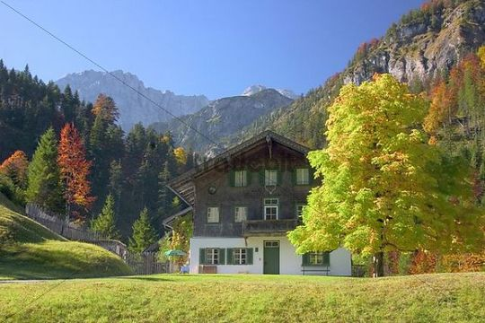 Foresters lodge, Vorderriss, Tyrol, Austria, Europe