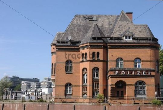 Old police station in Hamburg, Germany, Europe
