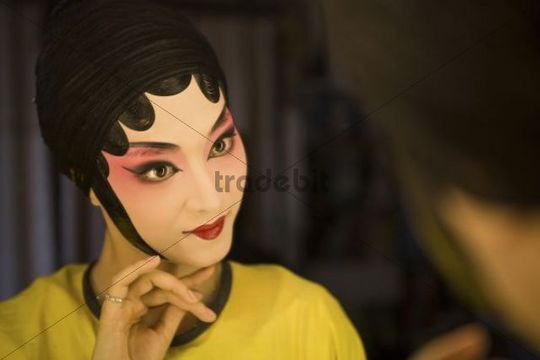 Female Beijing Opera performer, traditional Chinese culture, China, Asia