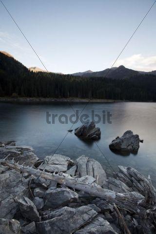 Lake Obernberg, Obernberg, Tyrol, Austria, Europe