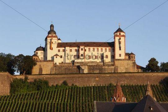 Fortress Marienberg, Wuerzburg, Lower Franconia, Franconia, Bavaria, Germany, Europe, PublicGround