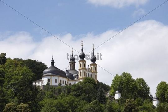 Kaeppele pilgrimage church, Mariae Heimsuchung or Visitation of Mary church, Wuerzburg, Lower Franconia, Franconia, Bavaria, Germany, Europe, PublicGround