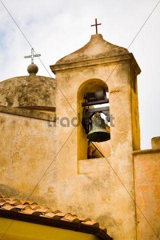 Bell tower, church, Porto Azzurro, Elba Island, Italy, Europe