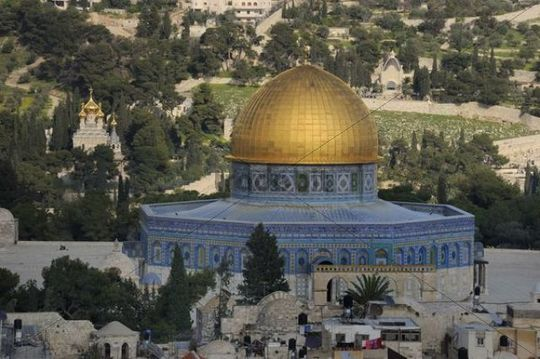 Dome of the Rock on the Temple Mount, Arab Quarter, Old City of Jerusalem, Israel, Middle East