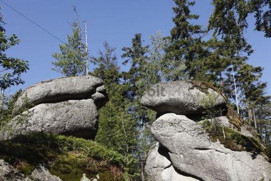 Weissmainfelsen rock formation, Ochsenkopf mountain, Fichtelgebirge mountain range, Upper Franconia, Franconia, Bavaria, Germany, Europe, PublicGround
