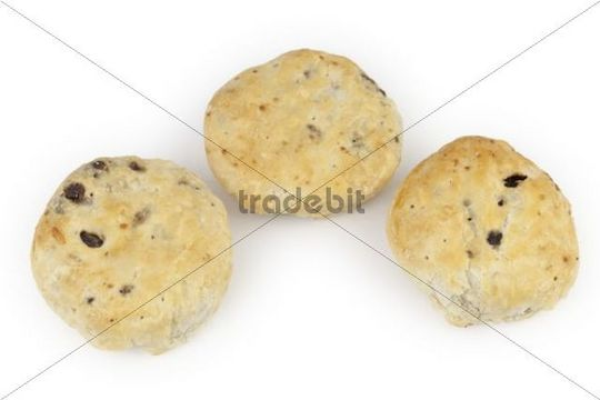 Eccles cakes, small round cakes filled with currants and ...