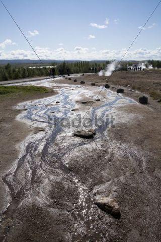 Hot spring water at Strokkur Geysir, Suðurland, Iceland, Europe