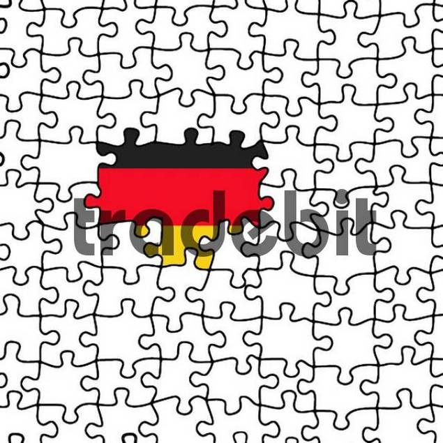 German flag appears in a puzzle
