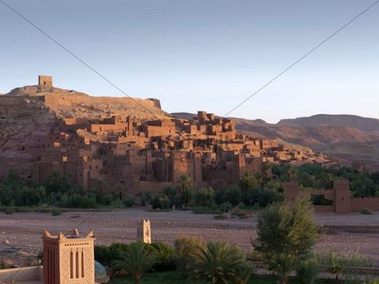 Kasbah Ait Benhaddou at sunrise, UNESCO World Heritage Site, Ait Benhaddou, Morocco, North Africa, Africa