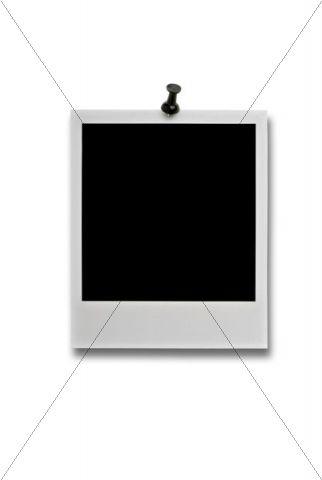 Black polaroid with pin