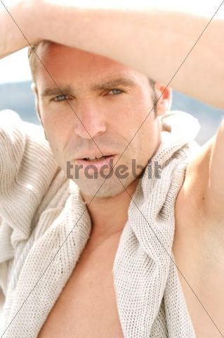 Outdoor portrait of a man, 37 years