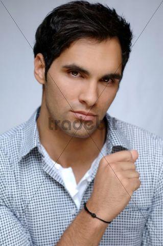 21-year-old mediterranean-looking man, portrait