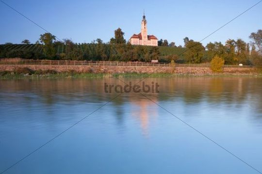 Birnau monastery in the last evening light, Lake Constance, Baden-Wuerttemberg, Germany, Europe