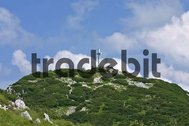 top of the mountain Traunstein Upper Austria