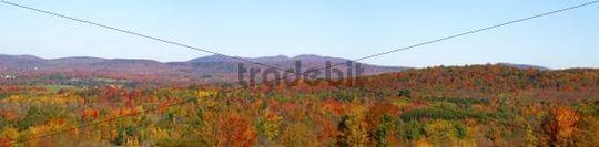 Autumnal panorama, Ville de Lac Brome, Quebec, Canada